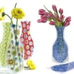 Una genial idea de negocio, floreros a base de bolsas plasticas, reciclables